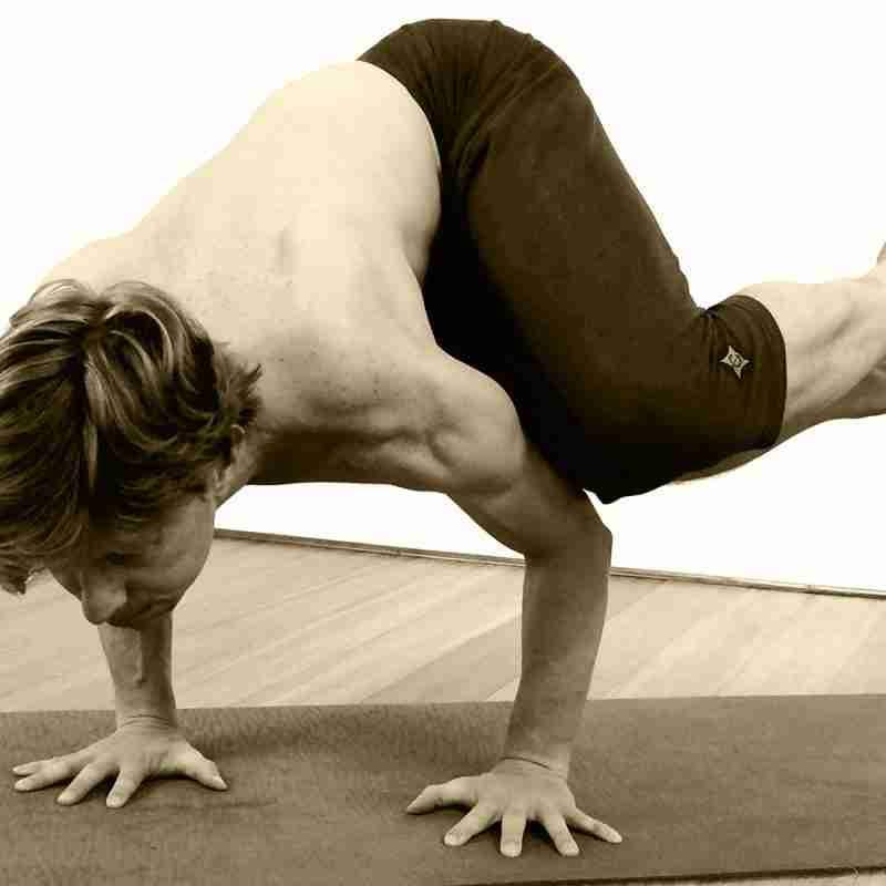 flight school arm balance yoga workshop